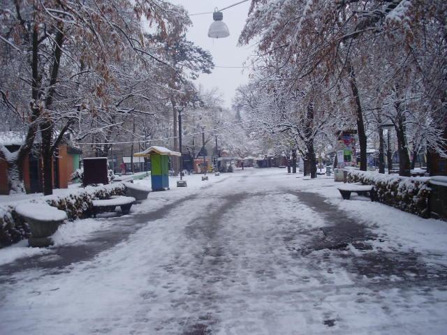 pada sneg u vrnjackoj banji - putevi u srbiji slabo prohodni