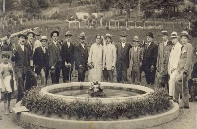 stara slika istorija Vrnjacke Banje - fontana